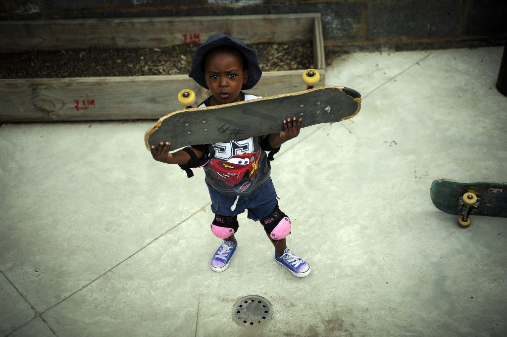 A child that will be positively impacted by Skateistan